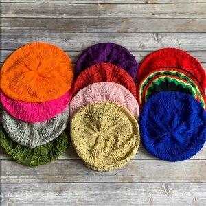 Crochet Knit Hats, Multiple Colors (11 total)